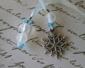Snowflake Book Thong (Bookmark)