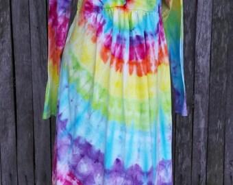 Tie dye hippie nightgown Organic Cotton - Size M