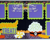 Scrapbook Page Kit Halloween Sweet Treats Boy Girl 2 page Scrapbook Layout 66