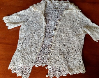 Antique crocheted jacket