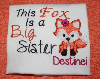 Big Sister Fox Onsie - Toddler - Youth Shirt