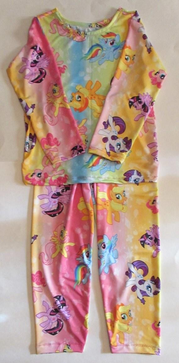 My Little Pony pajamas,My Little Pony knit pajamas,girls pajamas,knit pajamas,girls gift,gift for girls, My Little Pony gift