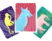 Animal Greeting Card Set, Wild Animal Greeting Cards, Blank Inside Greeting Cards, Illustrated Greeting Cards