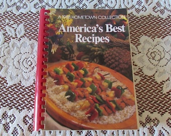 American's Best Recipes ~ Hometown Collection ~ 400 Outstanding Recipes ~ 330 Pages ~ 1988 Oxmoor House ~ Spiral Binding