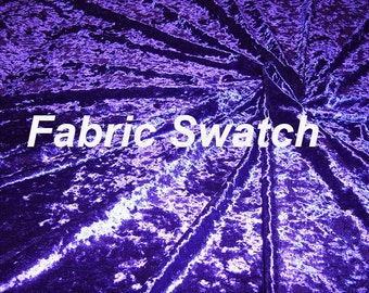 Fabric Swatch - Crushed Stretch Velvet Fabric - Purple Stretch Velvet Fabric Four way Stretch Item # RXPN-2976-SWATCH