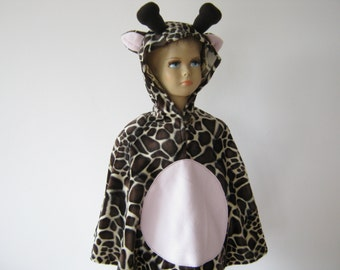 giraffe halloween / carnival costume cape for toddlers