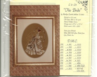 Lavender & Lace:  The Bride Cross Stitch Chart