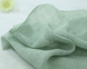Gauze Fabric Light Green By The Yard