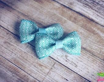 "SALE Boho-chic Hair Bows, Baby Toddler Girls Hair Bows, Ribbon Hair Bows, Hair Clips, 2.5"" Hair Bows, Pigtail Hair Bows, Trendy Modern Bows"