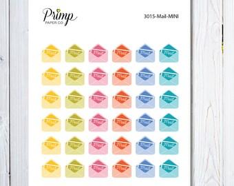 Mail - Mini Sticker Sheet, planner stickers