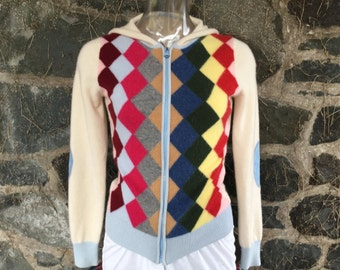 Rare Cashmere Hoodie Colorful