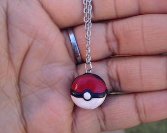 pokeball necklace - pokemon necklace