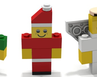 Lego Christmas Ornaments - Build em and Place em on your Tree - Set of Three