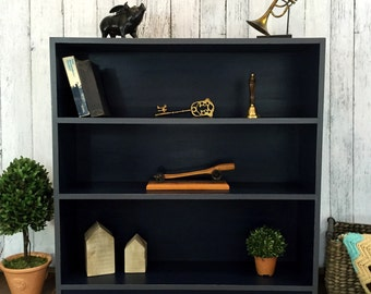 SOLD- Navy & Gray Bookcase