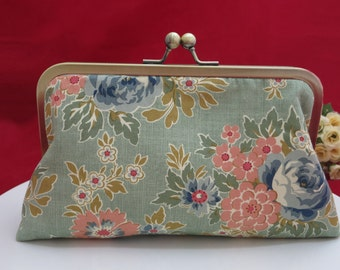 Clutch Purse, Bridesmaid Clutch, Evening Clutch, Wedding Clutch, Bridesmaid Gift, Bridal Clutch Bag, Floral Purse, Bridesmaid Thank you