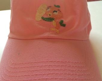 Little Orange Bird Needlepoint Hat