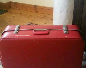 Vintage Red St Michael/Marks and Spencer Suitcase
