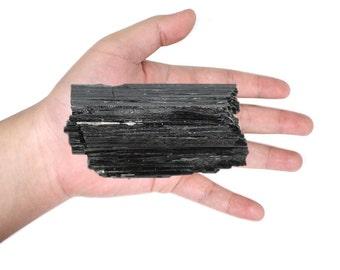 Large Black Tourmaline Chunk - Reiki - Chakra - 1/2lb - 1lb - (RK85B14)