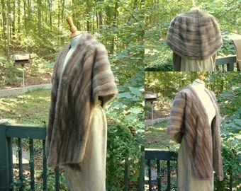Vintage Champagne Colored Mink Fur Stole
