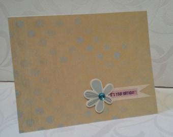 Polka Dot Happy Birthday Card