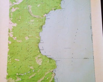 ORIGINAL 1955 Lake Tahoe (Ca & NV) Map in excellent condition