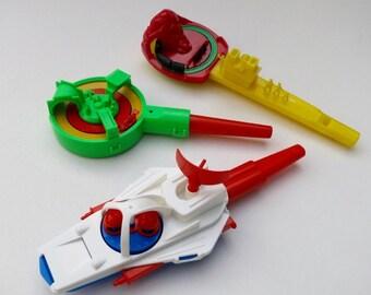 3 Vintage German Toy Whistles