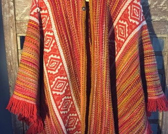 Vintage Wool Poncho from Paris.