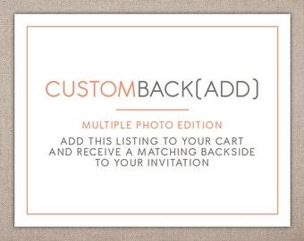 INVITATION BACKING (2+ Photos) - Custom Add-on
