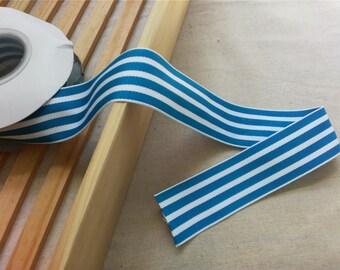 Blue ribbon - By The 2yard-3CM -  Lace Ribbon - stripes  Trim - Lace Hem - Lacy Ribbon,knot bow ribbon