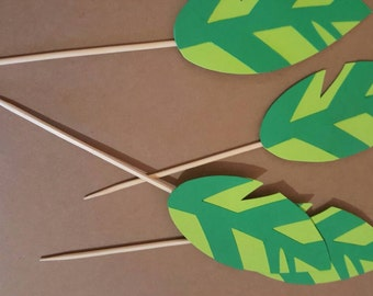 Woodland  Cupcakes Toppers / leaf cupcakes toppers