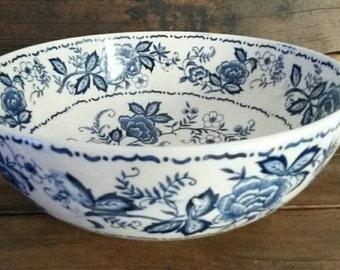 Vintage Porcelain Blue and White Bowl