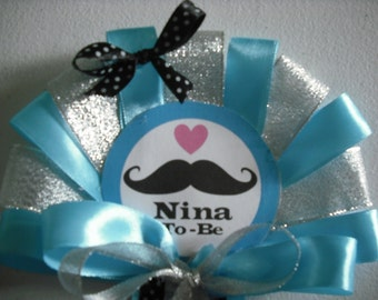 Nino and Ninto To be  pin on Mustache corsage and Tie set