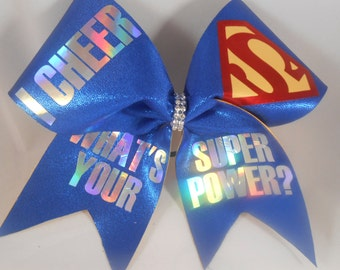 Cheer Bow I CHEER Whats Your SUPERPOWER ? by BlingItOnCheerBowz