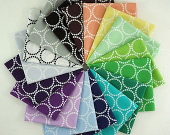 New Andover Mini Pearl Bracelets by Lizzy House - Fat Quarter Bundle of 17