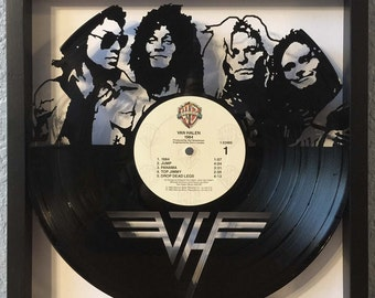 "Van Halen ""1984"" cut framed vinyl LP record art collectible gift"