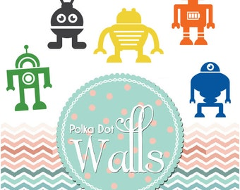 Robot Decals-Decal for Kids-Kids room decal-Robot Decals-Robot Stickers-Robot Wall Stickers-boys room decals