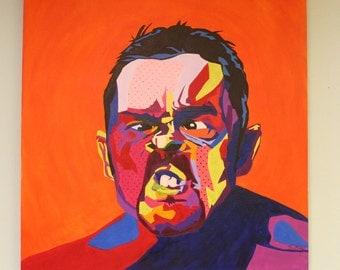 "Oil Painting 36""x36"" ""Grunt"""