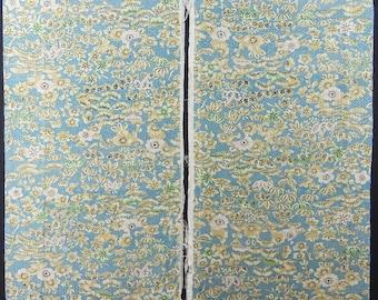 Vintage kimono silk fabric-Milky Blue2671M