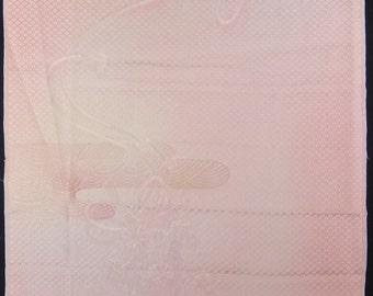 "13.8 ""w. x 14.2 ""l. Vintage kimono silk fabric-Powder Puff2236N"