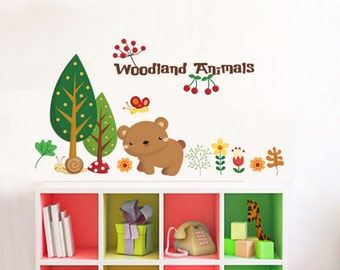 Woodland Animal Wall Decals for kids room - AW1221
