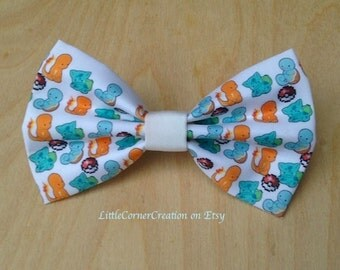 Pokemon Bulbasaur, Squirtle, Charmander Inspired Hair Bow or Bow Tie