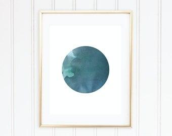 Blue Watercolour Dot - Printable