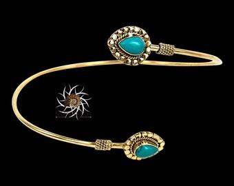 Brass Armlet - Brass Arm Bracelet - Upper Arm Cuff - Upper Arm Bracelet - Arm Bangle - Brass Armband - Gypsy Amlet - Ethnic Armlet