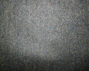 Fabric - 100% Wool herringbone - Khaki