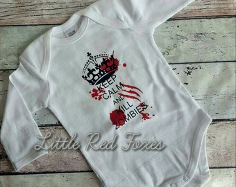 Zombie onesie. walking dead. baby onesie. baby shower. baby gift.
