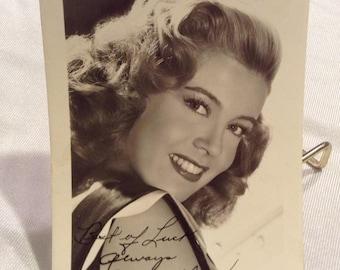 Gloria DeHaven Golden Age hollywood Pre-Print Autographed Photo Studio