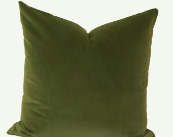Olive Green Decorative Pillow : Olive green pillow Etsy