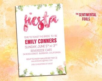 Feminine Fiesta Shower Invitation 5x7
