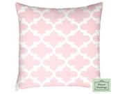 Lattice Pillow Cover - quatrefoil Pillow Cover - lattice, quatrefoil Toddler Travel Pillow, pink, navy, green, throw pillow, fulton