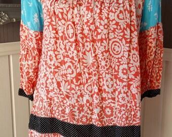 Vintage Top Shop Ladies Boho 1970s Style Blouse - Vintage Blouse, 1970s Chic